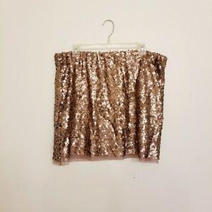 NWT Stunning Lauren Conrad Sequined Skirt XL